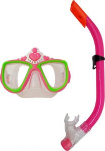 5 Kinder snorkelset - Duikbril en snorkel - Prinses