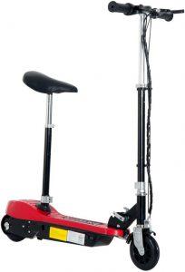 E-Scooter met zadel