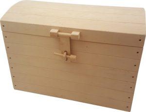 Speelgoedkist hout blank groot